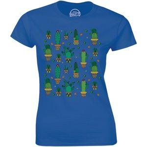 Different Succulent Cactus Plant Lover T-shirt Tee